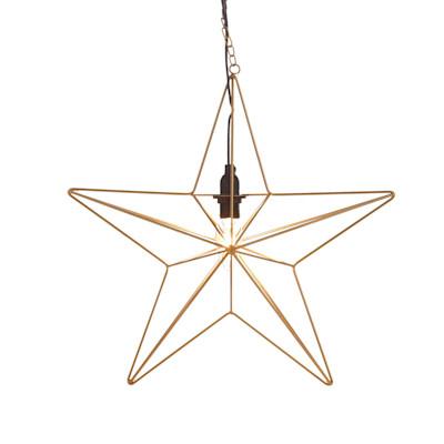 MARKSLÖJD Dekorationsleuchte Stern Tjusa, Kettenaufhängung mit Haken, skandinavisch, Metall
