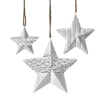 Best of home Dekohänger-Set Sterne 3-teilig Weiß