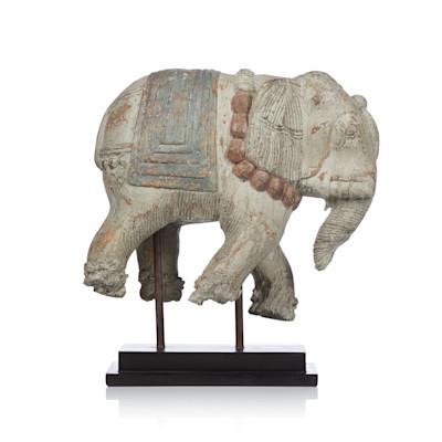 Deko-Elefant, Standfuß , Balinesischer Stil, Polyresin