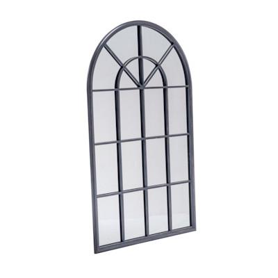 Wandspiegel Fenster, Industrial-Look, Eisen, ca. B65 x H110 cm