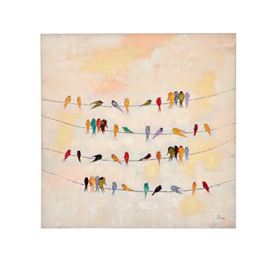 miaVILLA Bild Gezwitscher, Handgemalt, Leinwand, Acrylfarbe, ca. 100 x 100 cm