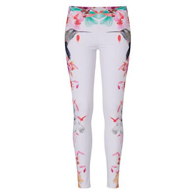 Bonvirage Legging, Blumen, Kolibri, Slim, Casual