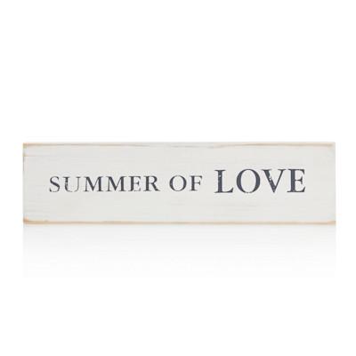 "IMPRESSIONEN living Holzschild 35 x 10 cm, Wording ""Summer of love"", Shabby Chic, Holz, länglich"