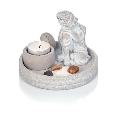 IMPRESSIONEN living Buddha, Deko-Schale, Asia-Style, Zement