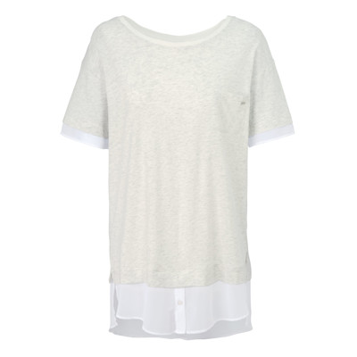 DKNY Homwear-Set, 2-in-1 Optik, Shirt/Culotte, Modern Fit, Casual, Jersey-Chiffon-Mix