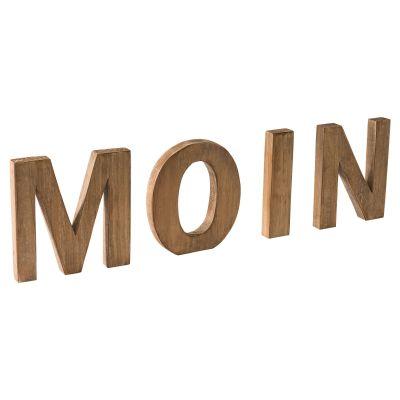 miaVILLA Dekoschriftzug Moin, Tannenholz