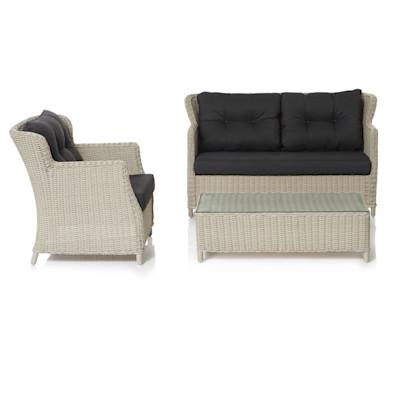 IMPRESSIONEN living Outdoor-Lounge-Set, 3-tlg., 3-tlg., inkl. Auflagen, outdoorgeeignet, Kunststoffrattan