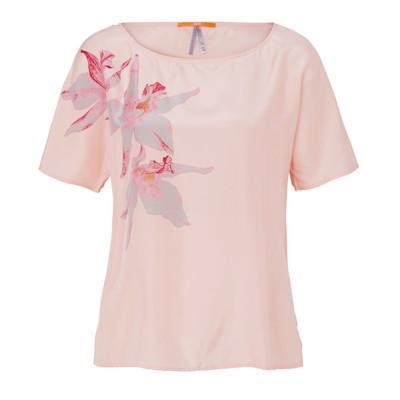 BOSS Orange Blusenshirt, Blumen, Print, boxy, edel, Seide