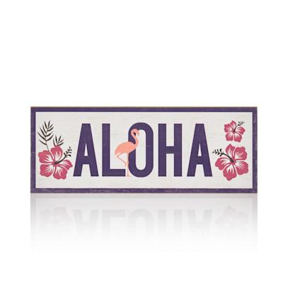 "IMPRESSIONEN living ""Schild """"Aloha"""", Holz"""