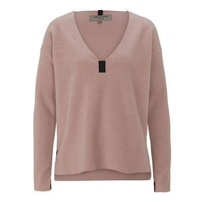HENRIETTE STEFFENSEN Fleeceshirt, Kontrastdetails, Comfort Fit