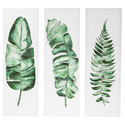 miaVILLA Bilder-Set, 3-tlg. Blätter, Natur-Look