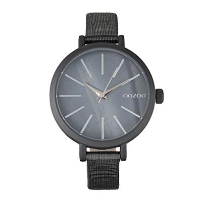 OOZOO Armbanduhr, mattes Gehäuse, edel, Lederarmband