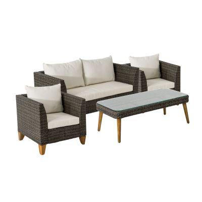 Gartenmöbel-Set 4-tlg. Arno