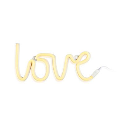 A Little Lovely Company LED-Wandleuchte Love, mit Haken, Kunststoff