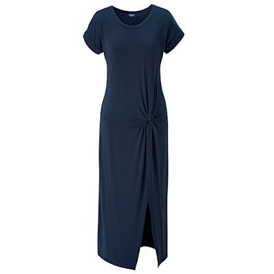 CONLEYS BLUE Kleid, Jersey-Qualität, Knoten-Dekor, leger geschnitten, elegant