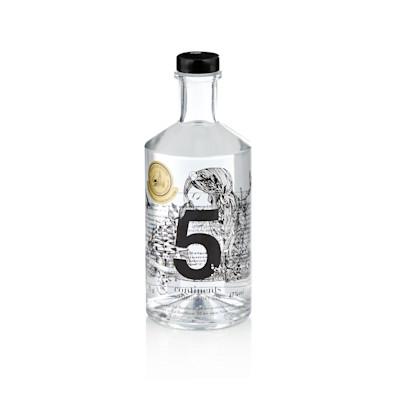 5 continents, Hamburg Dry Gin BIO, made in Germany, , 22 biologisch angebaute Botanicals, 700 ml
