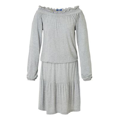 CONLEYS BLUE Kleid, meliert, lange Ärmel, ausgestellt, Casual, Jersey