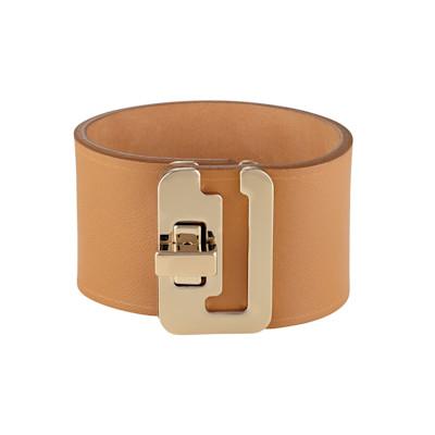 Maison Boinet Armband, Handarbeit, goldfarbene Drehschließe