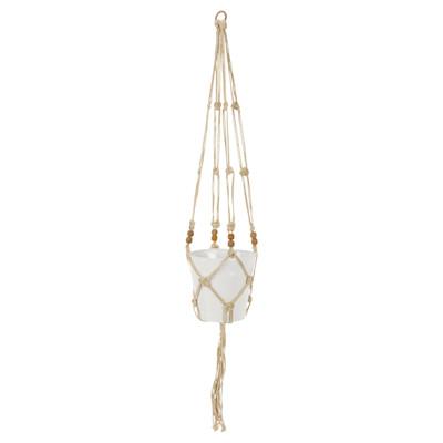 miaVILLA Blumenampel mit Topf Rope, Handarbeit, Ethno-Look