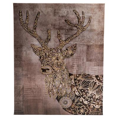miaVILLA Bild Deer, Handgefertigt, glamourös