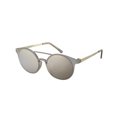 Le Specs Sonnenbrille, Piloten-Stil, goldfarben verspiegelt, matte Fassung