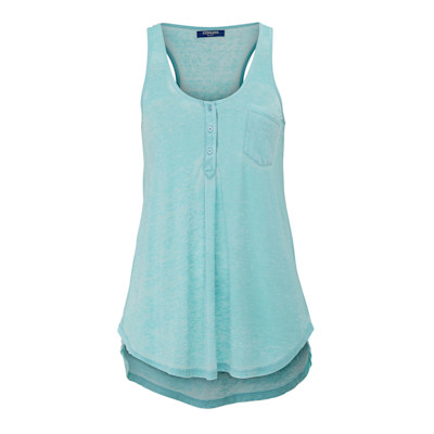 CONLEYS BLUE Top, Ausbrenner, Ringer-Rücken, leger geschnitten, sportlich