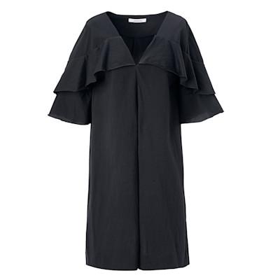 DOROTHEE SCHUMACHER Kleid, Volant-Details, gerade geschnitten, elegant