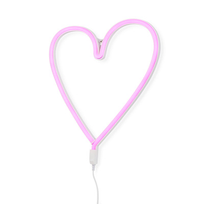 A Little Lovely Company LED-Wandleuchte, Herz, mit Haken, Kunststoff
