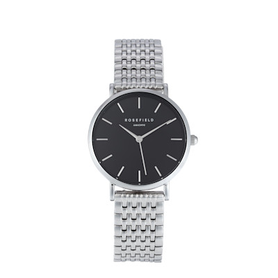ROSEFIELD Armbanduhr, Milanaise-Armband, sportlich, Edelstahl