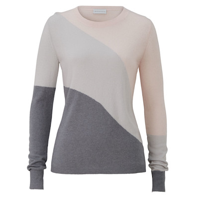 delicate love Pullover, Colour-Blocking, figurbetont, edel, Kaschmir