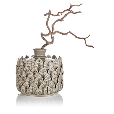 Vase, mit Relief, Porzellan
