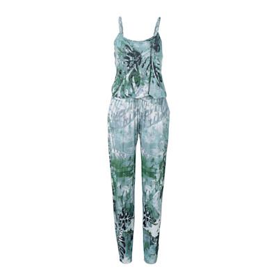 CONLEYS BLUE Overall, Palmenprint, Tropcial-Look, leger geschnitten