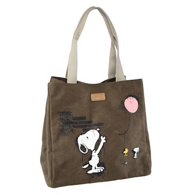 CODELLO Shopper, Snoopy-Print, Applikation