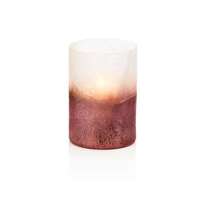 Windlicht, mit Farbverlauf, Glas