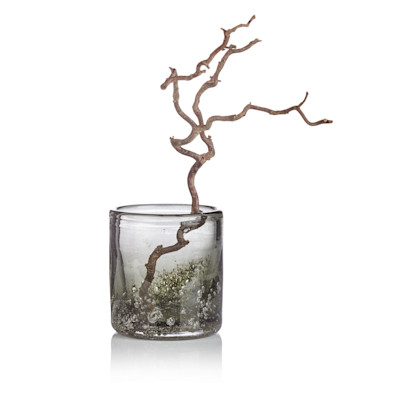 DutZ Vase, Farbverlauf, Handarbeit, edel, Glas