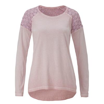 Dailys Shirt, Häkeleinsatz, Used-Waschung, tailliert, Romantik-Look