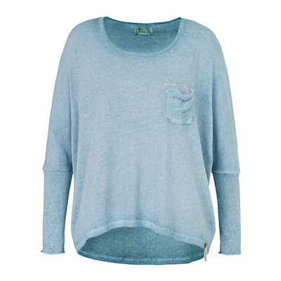 Cotton Candy Pullover, Metallic, Loose Fit, Used-Look