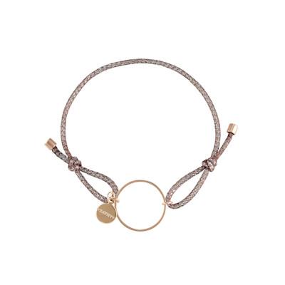 KATHY Armband, Metallic-Faden, Ring, modern