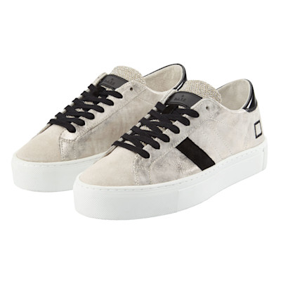 DATE Sneaker, Metallic-Look, Materialmix