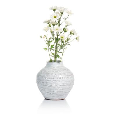 IB LAURSEN Vase, gemustert, rustikal, glasierte Keramik