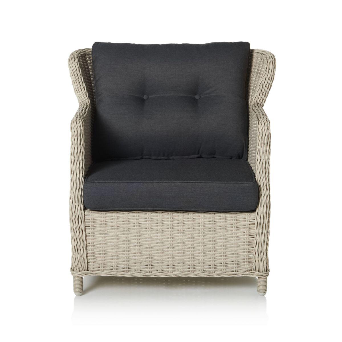 Outdoor-Sessel, inkl. Auflagen, Kunstrattan