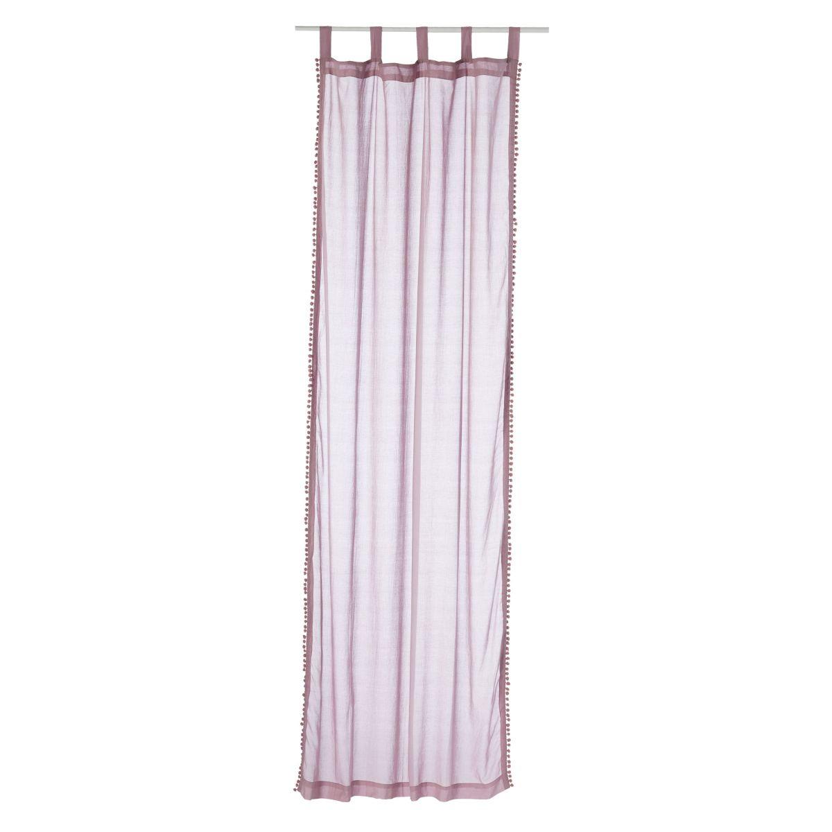 Vorhang-Set, 2-tlg. Pompom