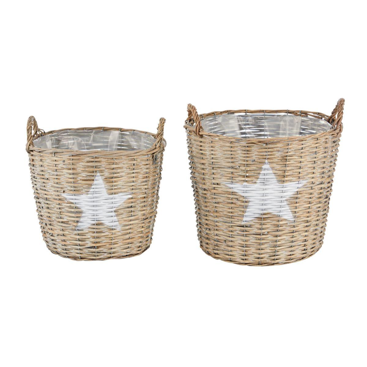 Korb-Set, 2-tlg. Stella, Country-Style, Rattan