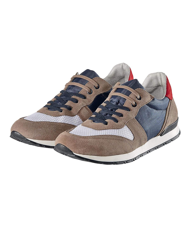 Image of Sneaker, Materialmix. mehrfarbig, sportlich, Leder, Textil