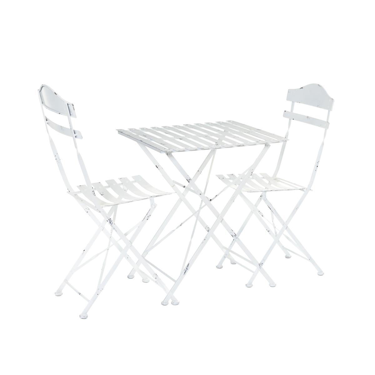 Gartenmöbel-Set 3-tlg. Justus Tisch Stühle Landhausstil Eisen