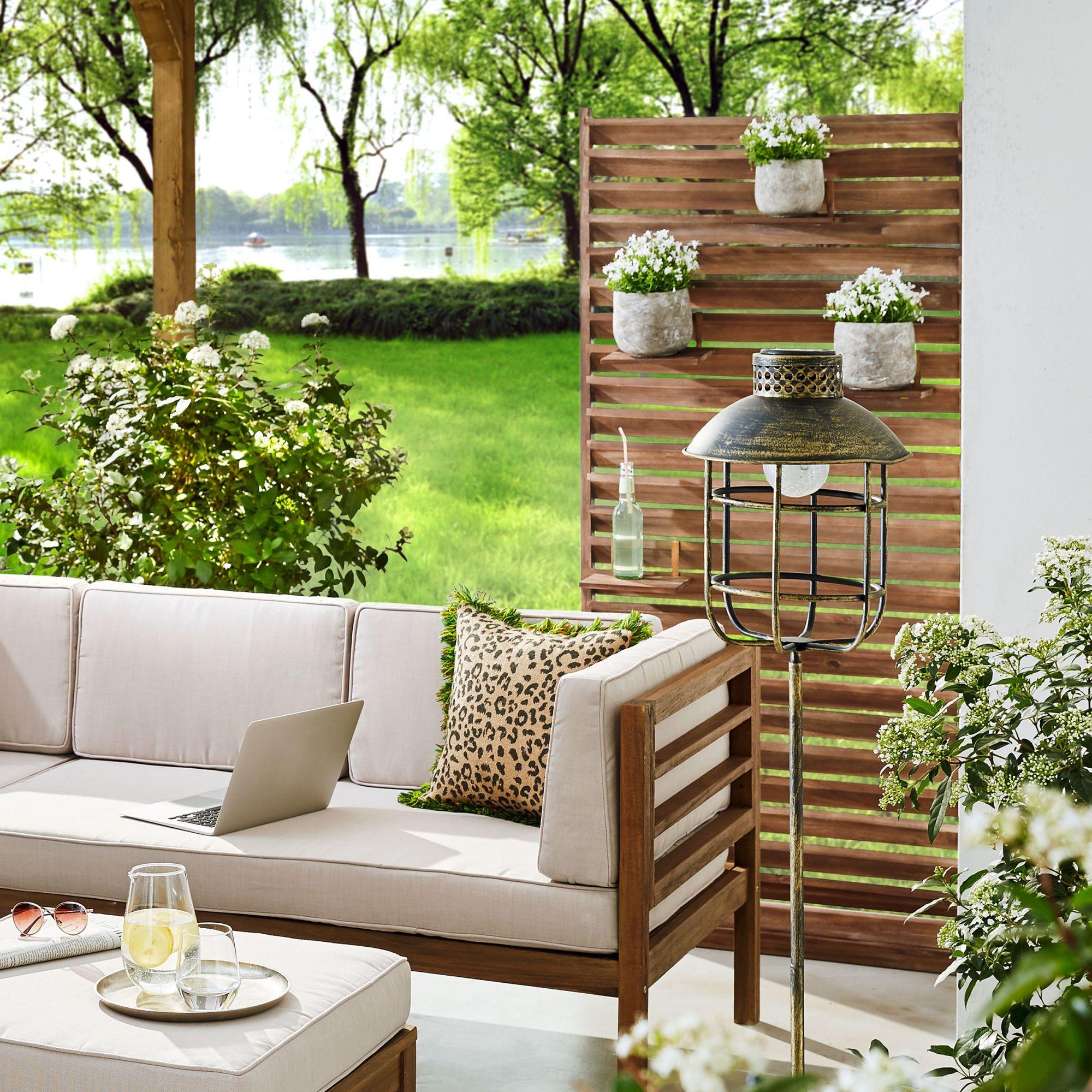 Sichtschutz Lamellen Akazienholz