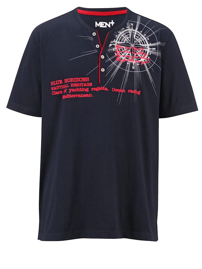 Shirt Men Plus Marine::Wit