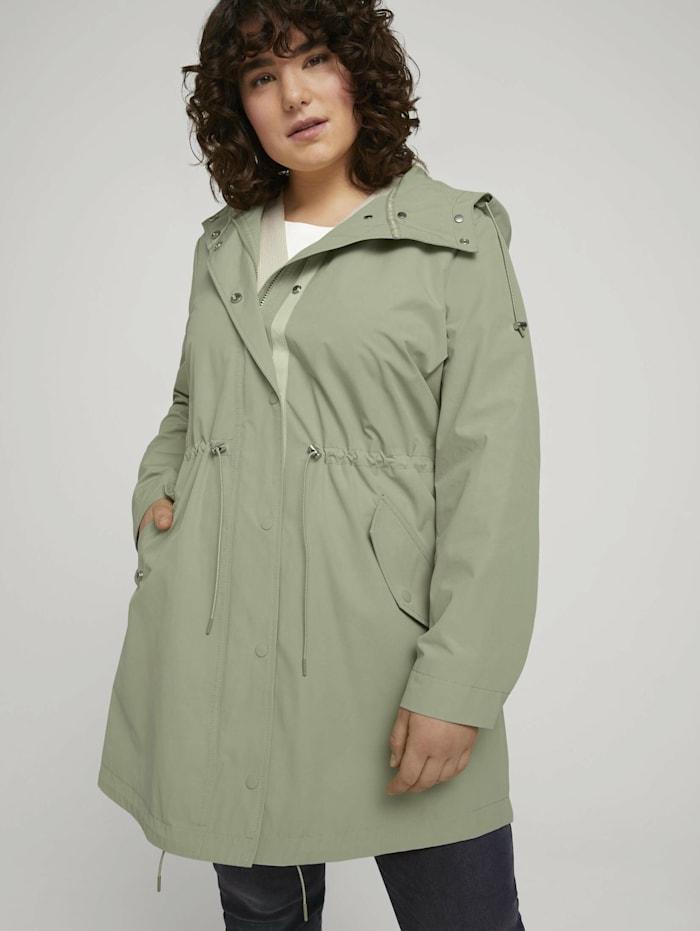 my true me by tom tailor - Curvy - Sommer Parka mit recyceltem Polyester  light olive