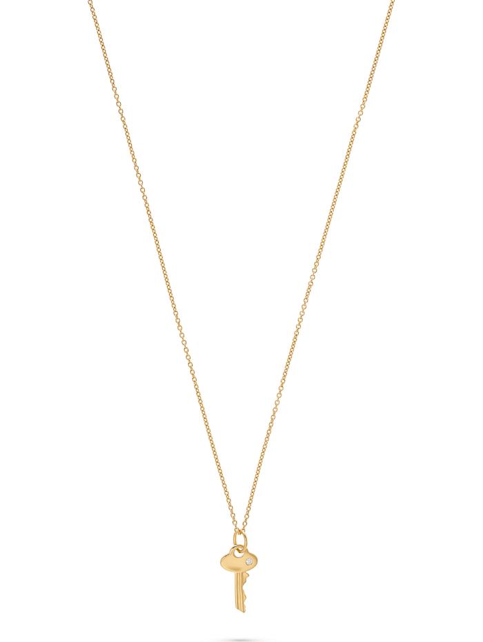 guido maria kretschmer -  Damen-Kette 925er Silber 1 Diamant  gold