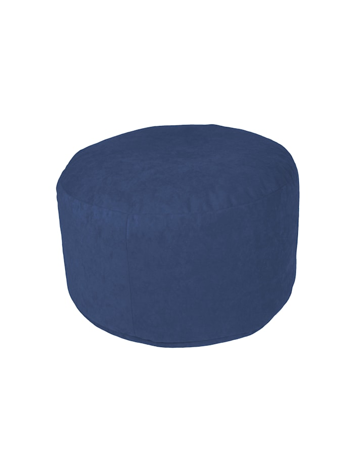 Sitzkissen Hocker Pouf uni Ø47/34 cm Linke Licardo blau